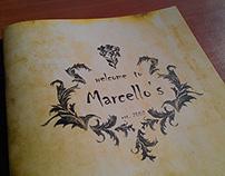 "Restaurant Logo and Menu ""Marcello's"""