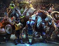 League of Legends: World Cup Skin Bundle Artworks