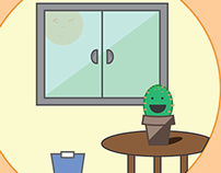 Little Cactus and Mr. Raccoon