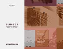 Sunset Shadow Mockup Scene Creator