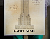 THE EMPIRE STATE BUILDING (HAND DRAWING)