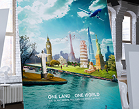 ONE WORLD .. ONE LAND