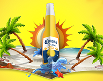 Corona Beer: Facebook post designs