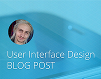 User Interface for Blog Post