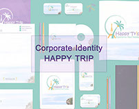 "Corporate Identity ""Happy Trip"""