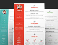 Clean & Flat Resume Set