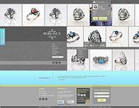 web Design - jewelry shop