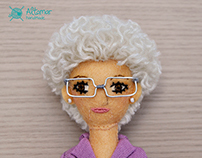 My grandmother Conchín custom doll