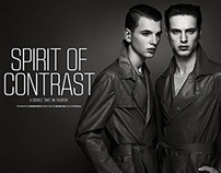 Edito SPIRIT OF CONTRAST - AUGUST MAN magazine