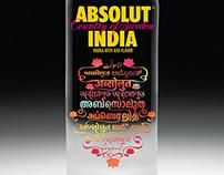 Absolut India Bottle Design