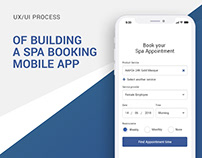 UX/UI Process for a Spa booking app