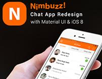 Nimbuzz Material App Redesign