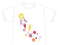 Alice in Wonderland Inspired T-shirt Design