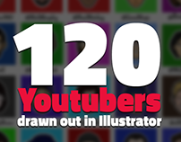 120 YouTuber Drawn