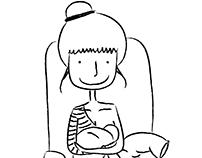 la postura della neo mamma