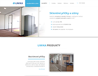 Corporate website for glasswork company Limika