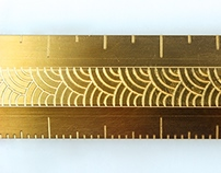 Traditional Brass Ruler