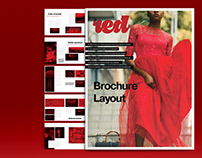 Red Brochure Layout