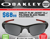 Oakley Email Marketing Price Drop Sale