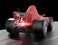 3D F1 Cartoon