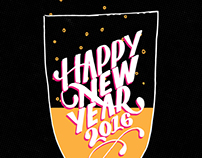 Happy New Year - Hand Lettered Gif Animation w/ Process