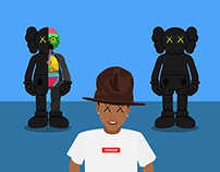 Pharrell loves Kaws!