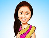 Actress-Caricature
