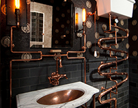 Steampunk Bathroom by Andre Rothblatt Architecture
