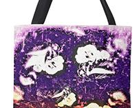 floral illustrated bag design