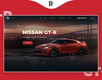 Nissan GT-R Sale- Landing page Concept