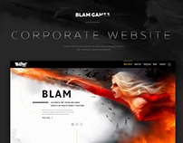 Corporate website for the Blam Games company