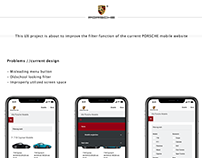 Improvement of the filter function - PORSCHE mobile