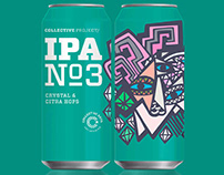 Collective Arts Brewing Beer Bottle Design