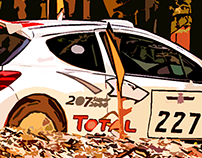 Rally car at Festival of Speed