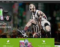 Sports nutrition and accessories web design