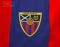 Free Close Up Sports Fabric Logo Mockup PSD