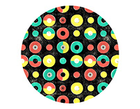 Fabric Pattern Circles and Dots