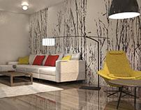 Duplex Interior Design - Living Room