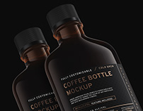 Coffee/Flask Bottle Mockup + Free Sample