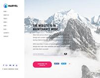 Maintenance Page - Marvel WordPress Theme