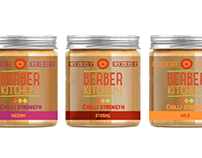 Premium food brand Berber Kitchen label redesign