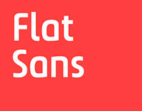 Flat Sans – Bespoke font