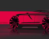 Luxury Sedan quick sketch