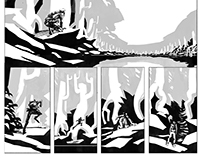 CHRONICLE OF THE HUNT comic illustration