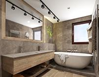 #simplebathroom #wood #microcret #sand-grey