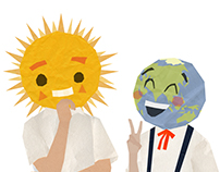 Happy Sun and Earth