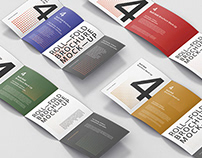 Roll-Fold Brochure Mockup Bundle