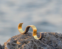 WAVES contemporary rings