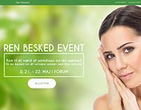 Ren Besked event website