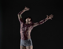 Sci-fi body suit for live dance performance
